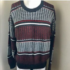 Vintage Unisex Jantzen Striped Crew Neck Sweater